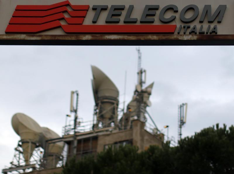 A Telecom Italia antenna booster is seen in northern Rome