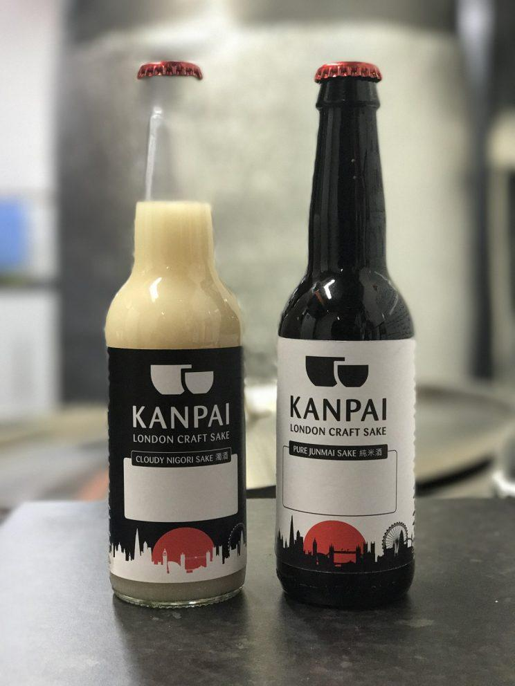 A couple of the bottles of Kanpai sake (Kanpai)