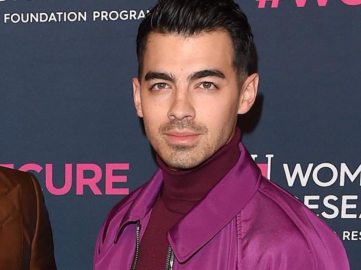 joe jonas in february 2020