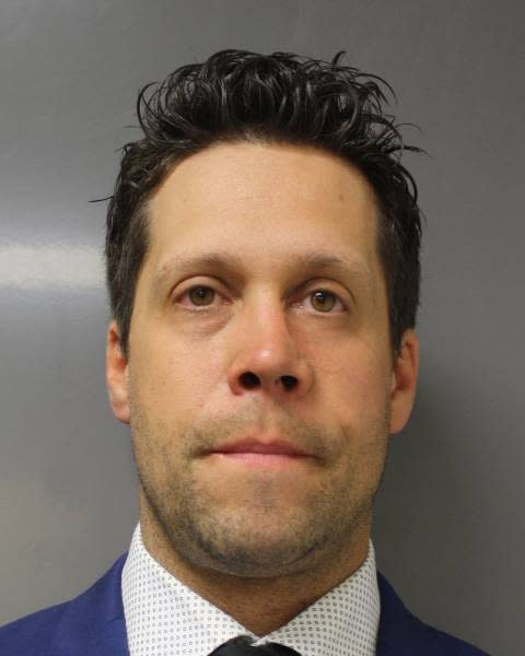 This June 6, 2020 photo provided by the Erie County District Attorney's Office in Buffalo, N.Y., shows suspended Buffalo police officer Aaron Torgalski. Criminal charges have been dropped against Torgalski, one of two police officers seen on video last spring shoving a 75-year-old protester to the ground in Buffalo, New York, prosecutors said Thursday, Feb. 11, 2021. (Erie County District Attorney's Office via AP)