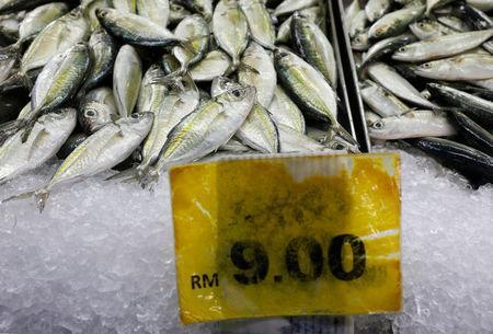 Fish for sale is seen at a wet market in Malaysia's southern city of Johor Bahru April 26, 2017. REUTERS/Edgar Su