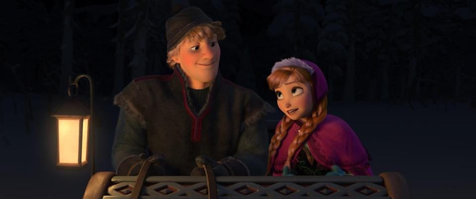 <p><strong>For Anna:</strong> You can take your pick from a couple of Anna's outfits; be fancy in her green dress for Elsa's coronation ceremony, go for pink winterwear Anna, or you can go with casual Anna. Whatever you do, make sure you've got two red braids.</p> <p><strong>For Kristoff:</strong> Wear some gray, fur-lined clothes and a red belt, plus a little cap (and you get to wear UGGs!). Bonus points if you bring a stuffed Sven.</p>