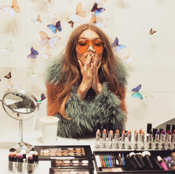 Gigi lovers rejoice: her make-up range is about to drop. Photo: Instagram