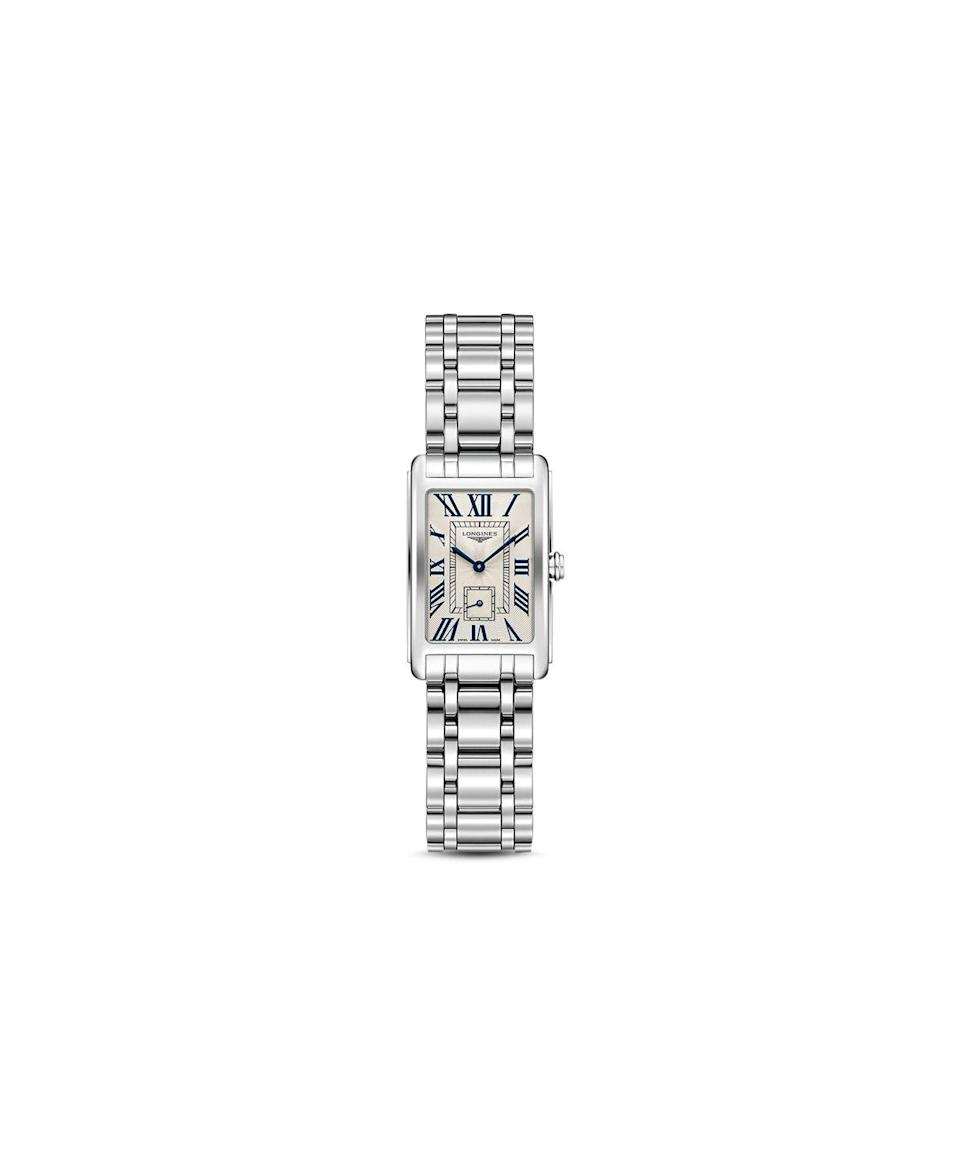 """<p><strong>Longines</strong></p><p>bloomingdales.com</p><p><strong>$1250.00</strong></p><p><a href=""""https://go.redirectingat.com?id=74968X1596630&url=https%3A%2F%2Fwww.bloomingdales.com%2Fshop%2Fproduct%2Flongines-dolcevita-watch-20.5mm-x-32mm%3FID%3D1500754&sref=https%3A%2F%2Fwww.redbookmag.com%2Ffashion%2Fg34851518%2Fluxe-gifts-for-her%2F"""" rel=""""nofollow noopener"""" target=""""_blank"""" data-ylk=""""slk:Shop Now"""" class=""""link rapid-noclick-resp"""">Shop Now</a></p>"""