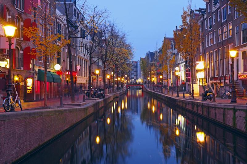 Amsterdam's red light district: Dreamstime