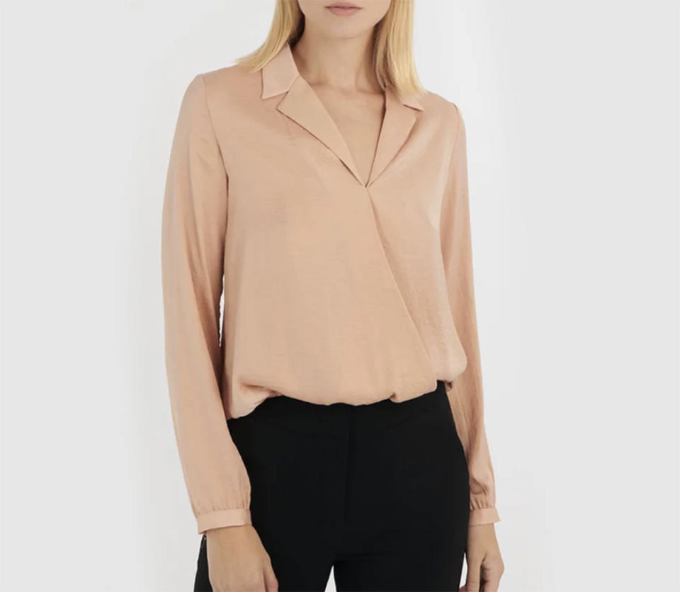 Forcast Caroline Cross Over Blouse, $39 (sale) from The Iconic