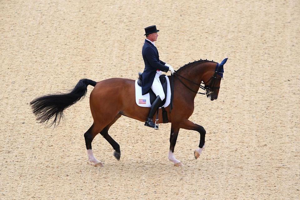 """<p>They can't even <a href=""""https://www.usef.org/forms-pubs/F3p8pgrWgAo/dr-dressage-division"""" rel=""""nofollow noopener"""" target=""""_blank"""" data-ylk=""""slk:click their tongues"""" class=""""link rapid-noclick-resp"""">click their tongues</a> to control their horse. This rule was enforced at the 1932 Olympics when a <a href=""""https://www.cosmopolitan.com/lifestyle/news/a60195/biggest-scandals-in-olympic-history/"""" rel=""""nofollow noopener"""" target=""""_blank"""" data-ylk=""""slk:Swedish equestrian was demoted to last place"""" class=""""link rapid-noclick-resp"""">Swedish equestrian was demoted to last place</a> for making a clicking sound — even though he claimed it was just his saddle. </p>"""