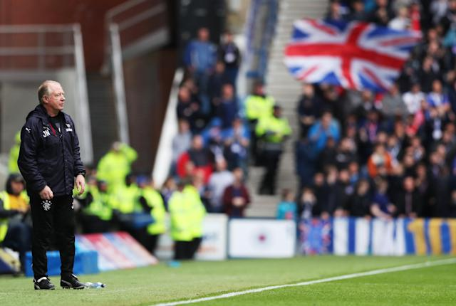 Soccer Football - Scottish Premiership - Rangers vs Kilmarnock - Ibrox, Glasgow, Britain - May 5, 2018 Rangers co-caretaker manager Jimmy Nicholl REUTERS/Scott Heppell