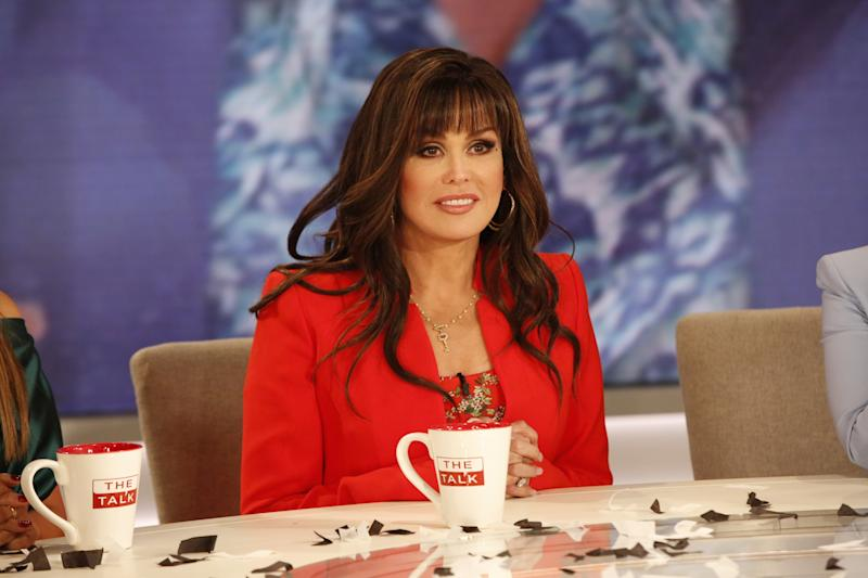 """LOS ANGELES - MAY 7: Global Entertainer Marie Osmond is announced as the new host for season 10 of """"The Talk,"""" Tuesday, May 7, 2019 on the CBS Television Network. (Photo by Monty Brinton/CBS via Getty Images)"""