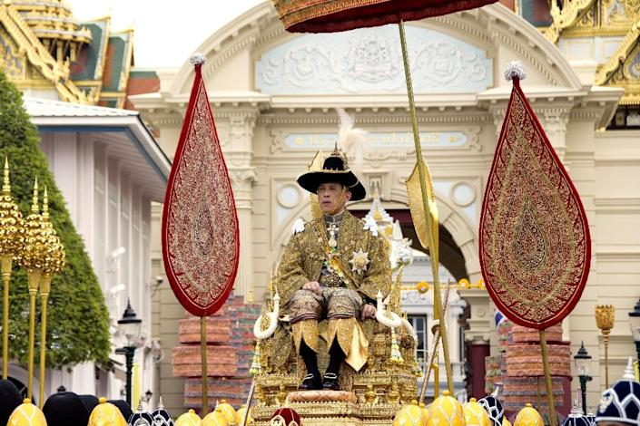 The Thai king's coronation started on Saturday, and is the first in 69 years (AFP Photo/Handout)