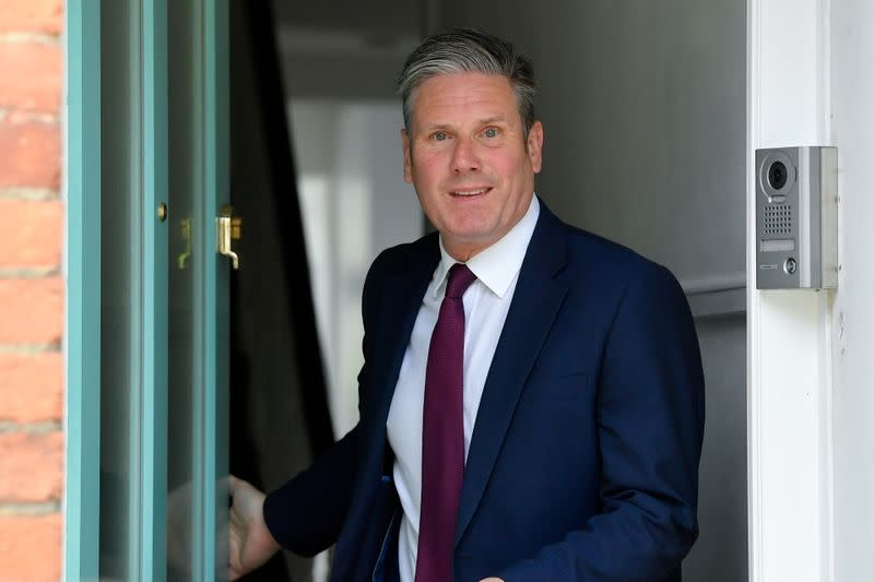 FILE PHOTO: Britain's Labour Party leader, Keir Starmer leaves his home in London