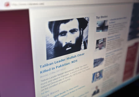 Tolonews website runs a story on its front page about Taliban Mullah Mohammad Omar's death in Kabul