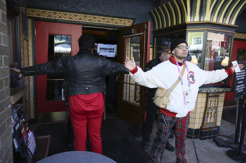 """Audience members for """"Leaving Neverland"""" received security screenings before the film's premiere. (Danny Moloshok/Invision/AP)"""