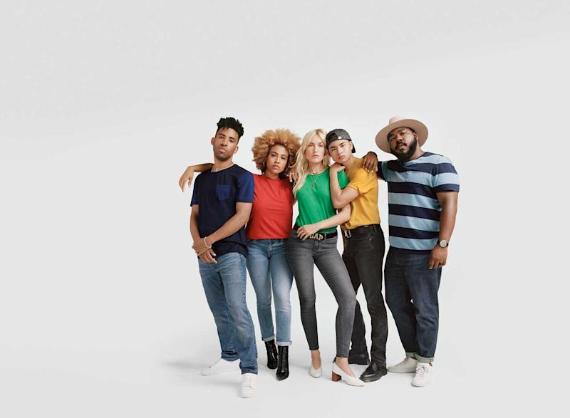 Kimberly Drew, Carolotta Kohl, Kevlin Davis, Enzima, and SuperDuperKyle in new Gap fall campaign. (Photo: courtesy of Gap)