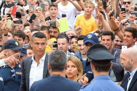 Cristiano Ronaldo arrives at the Juventus' medical center in Turin, Italy July 16, 2018. REUTERS/Massimo Pinca