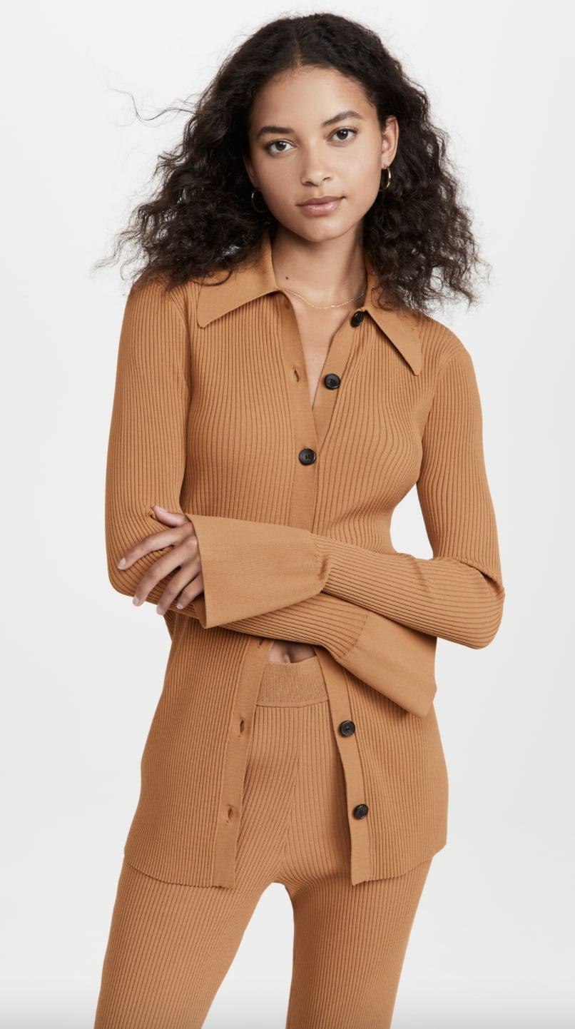 <p>If you looked up effortless elegance, this <span>A.L.C. Eleanor Cardigan</span> ($395) would probably come up, and rightfully so. The luxe ribbed fabric combined with the comfortable yet sexy silhouette make it a splurge-worthy piece in my book.</p>