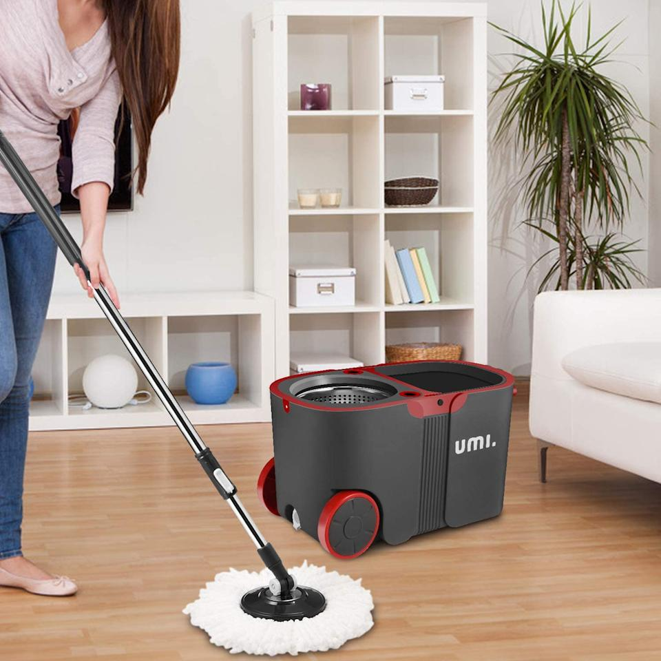 Stacey Solomon loves this spinning mop, which is available on Amazon