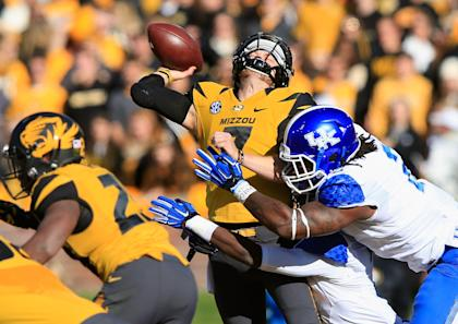 Bud Dupree put some big hits on a few QBs this season. (Getty Images)