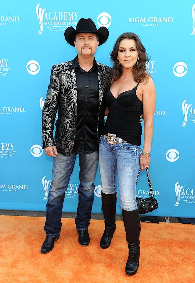 "John Rich and Gretchen Wilson  Grade: C-   The songwriting partners struck a sour note with their loud jacket (him) and their camisole-as-evening-wear-and-light-denim-combo (her). Denise Truscello/<a href=""http://www.wireimage.com"" target=""new"">WireImage.com</a> - April 18, 2010"
