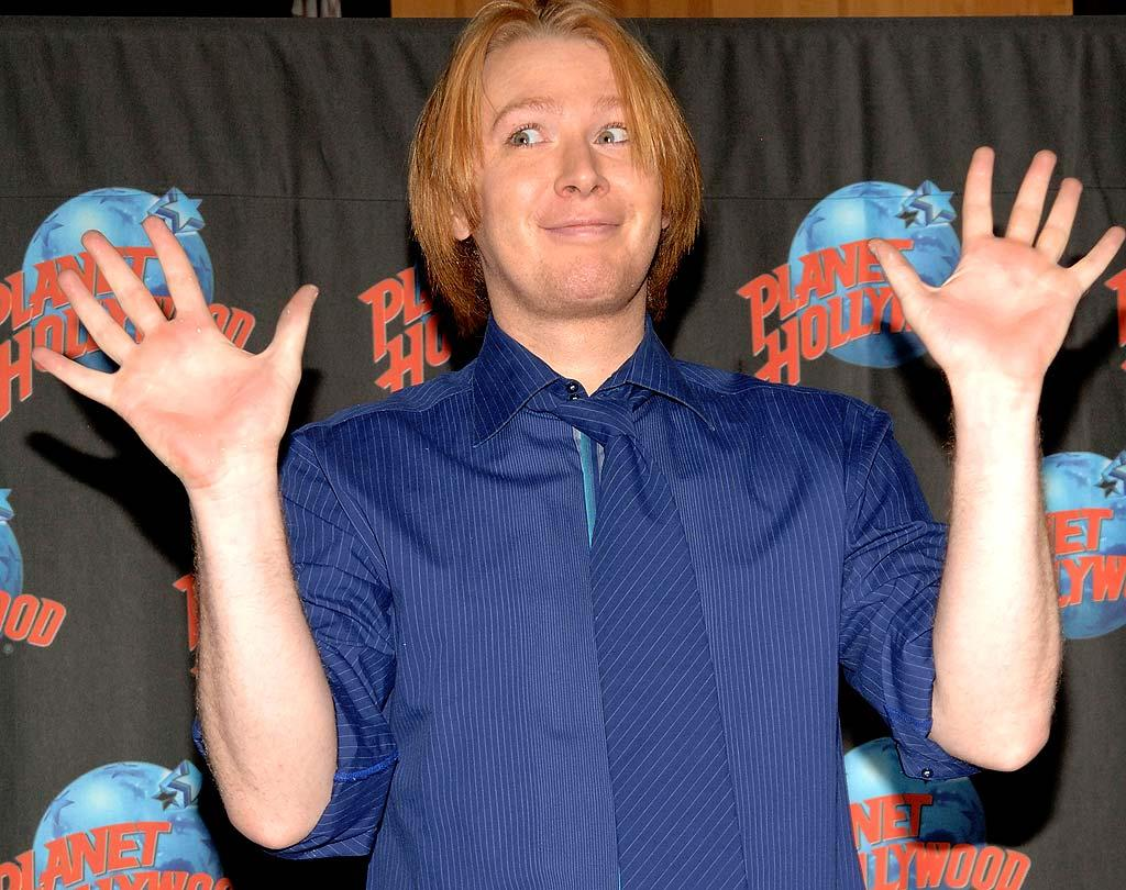 """The Great White Way's latest diva shows off his jazz hands (and hair don't) before getting down 'n' dirty. Duffy-Marie Arnoult/<a href=""""http://www.wireimage.com"""" target=""""new"""">WireImage.com</a> - April 8, 2008"""