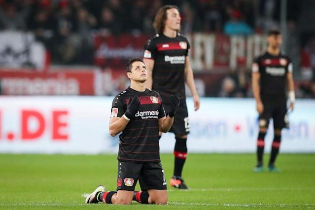 Chicharito during a recent Bundesliga loss to Ingolstadt (Getty)