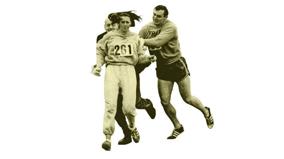 """<strong>If you liked</strong> the winged heels of <i><a href=""""http://www.imdb.com/title/tt0082158/"""" target=""""_blank"""">Chariots of Fire</a></i> and Jackie Robinson's barrier-breaking triumphs in <i><a href=""""http://www.imdb.com/title/tt0453562/"""" target=""""_blank"""">42</a></i>... <br /><br /><strong>May we suggest</strong> Kathrine Switzer, the first female runner to officially enter the once all-male Boston Marathon. In 1967, after training with the Syracuse University men's cross-country team and besting officials (she applied for a bib as K.V. Switzer), she was almost physically shoved off the course by blustering race codirector Jock Semple (we're thinking Bryan Cranston), who'd be damned if he'd let a woman taint his testosterific event. Cut to Switzer's proud finish—where (spoiler) her uterus <i>doesn't</i> fall out."""
