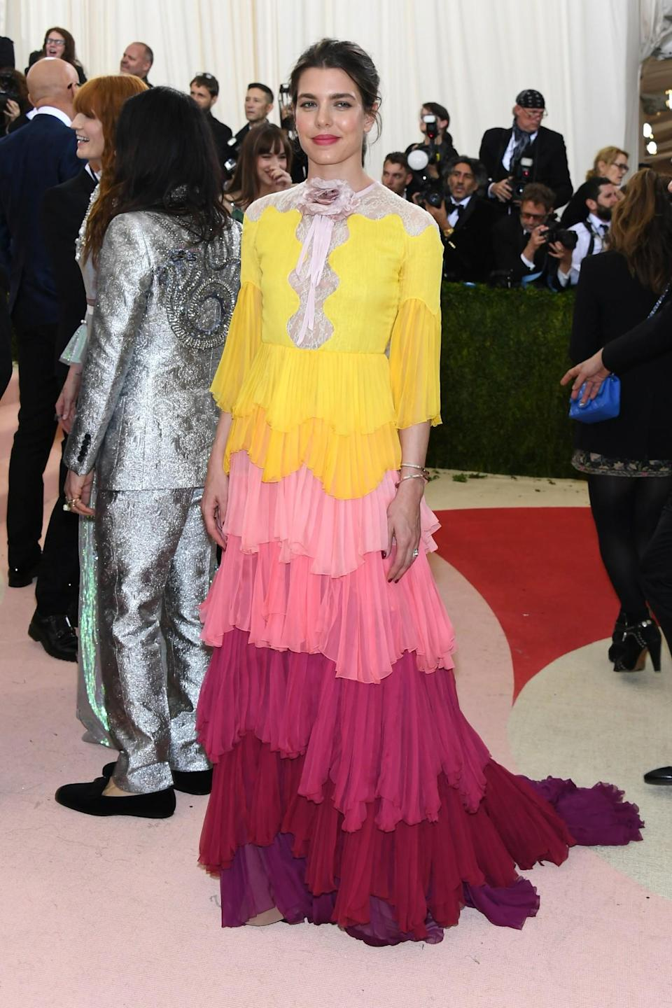 <p>Charlotte has style running through her blood. She is the granddaughter of Grace Kelly (and therefore a Princess of Monaco) and can often be seen on red carpets including the infamous Met Gala. Last year, she attended on the arm of Gucci's Alessandro Michele wearing an extremely daring gown; something that is a regular for the royal. <i>[Photo: Getty]</i> </p>