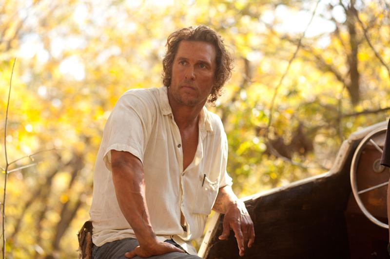 "This film image released by Roadside Attractions shows Matthew McConaughey in a scene from ""Mud."" A few years ago, Matthew McConaughey's career had bottomed out in rom-com mediocrity. He resolved to alter his path, and the rebirth that followed _ the so-called McConaissance _ reaches an apogee with his Oscar nomination for his performance in ""Dallas Buyers Club."" (AP Photo/Roadside Attractions, Jim Bridges)"
