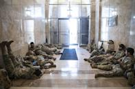 <p>As the troops are called to the Capitol, many have been quartering inside the building they are assigned to protect. </p>