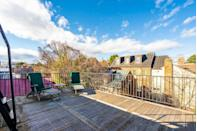 <p>In warmer months, this private terrace would be suitable for dinners or parties. The deck also has its own small kitchen area for convenience. </p>