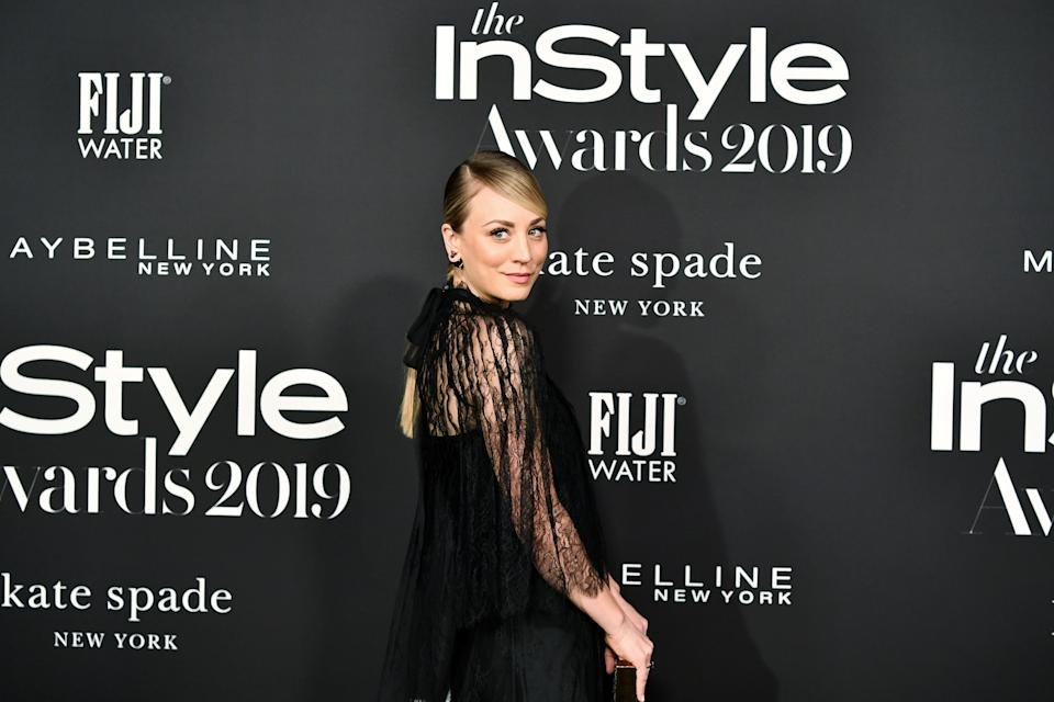 LOS ANGELES, CALIFORNIA - OCTOBER 21: Kaley Cuoco attends the 2019 InStyle Awards at The Getty Center on October 21, 2019 in Los Angeles, California. (Photo by Amy Sussman/FilmMagic)