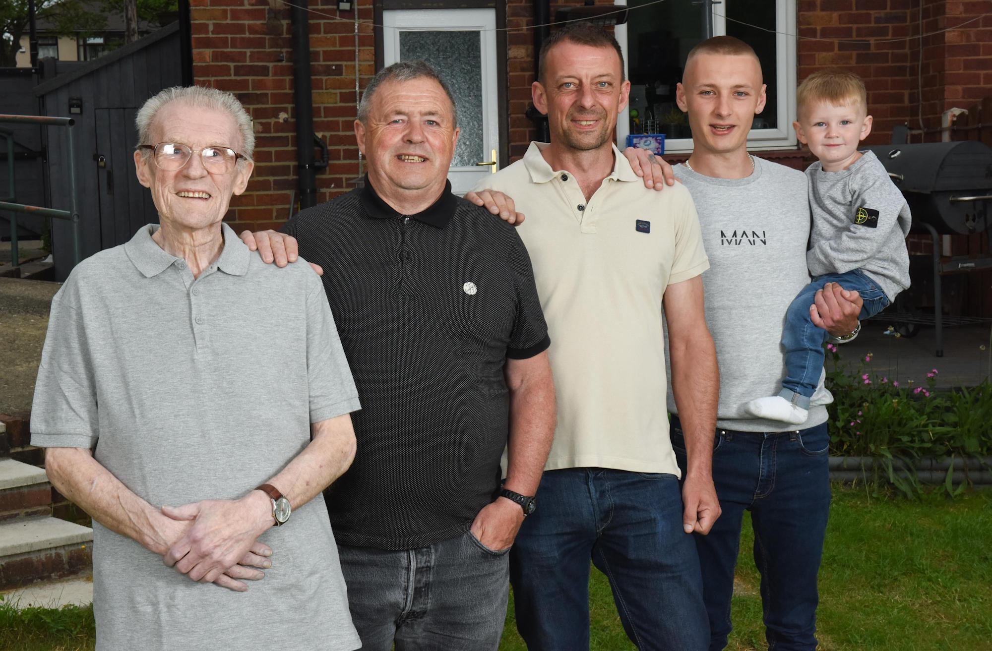 Five generations of first born males set to celebrate Father's Day this Sunday