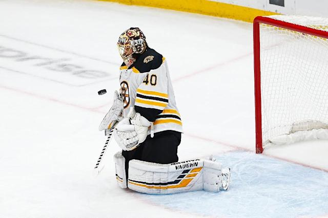 Goaltender Tuukka Rask, of Finland, was the best player on the ice for the Boston Bruins, stopping 28 shots in a game six Stanley Cup finals win over the St. Louis Blues (AFP Photo/Dilip Vishwanat)