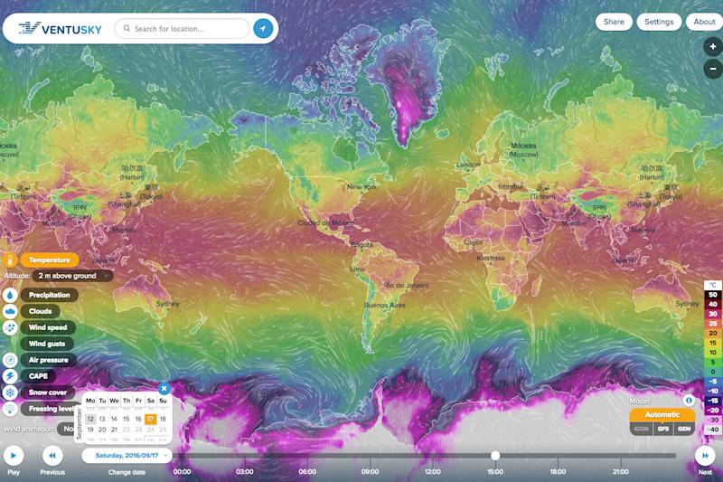 This stunning interactive map shows the world's weather conditions in real time