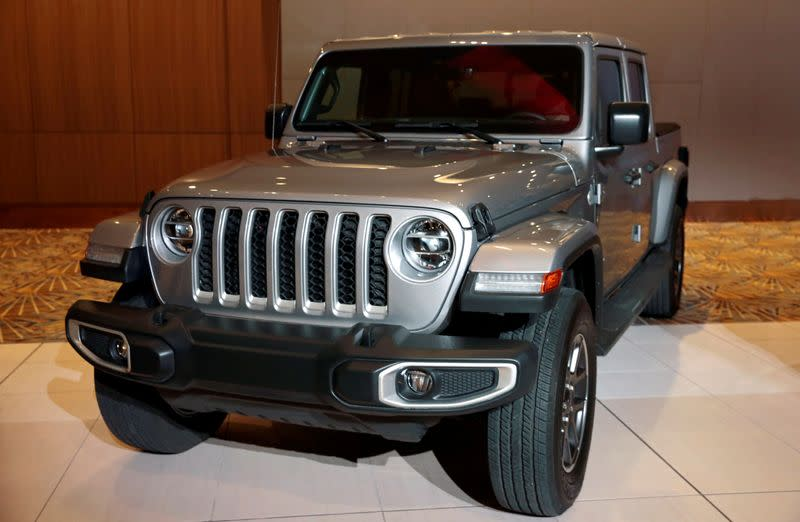 FILE PHOTO: The 2020 North American Truck of the Year, 2020 FCA Jeep Gladiator, is displayed during the award ceremony in Detroit