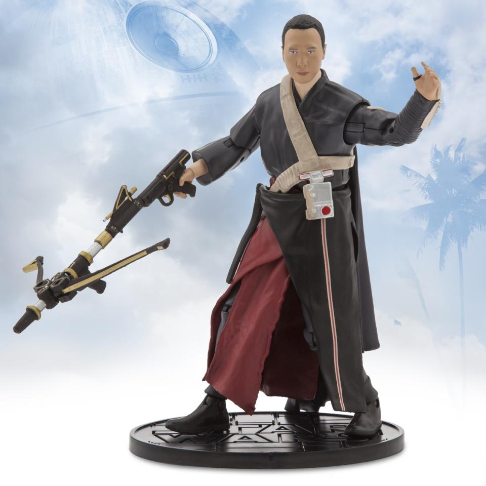 <p>The blind Force-sensitive character (played by Donnie Yen) boasts a sweet blaster that echoes Chewie's classic bowcaster.<i> ($26.95)</i></p>