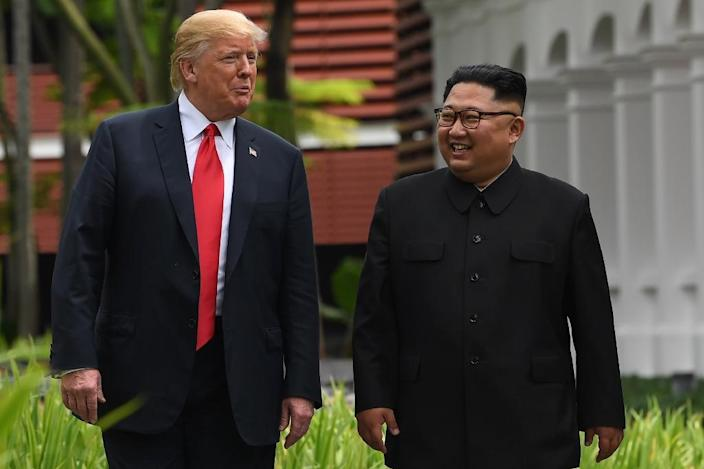 FireEye researchers say North Korean hacking and cyberespionage is continuing despite diplomatic efforts inlcuding US President Donald Trump's meeting with North Korea's leader Kim Jong Un (AFP Photo/SAUL LOEB)