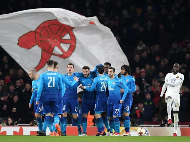 Arsenal draw AC Milan in the Europa League last 16 draw