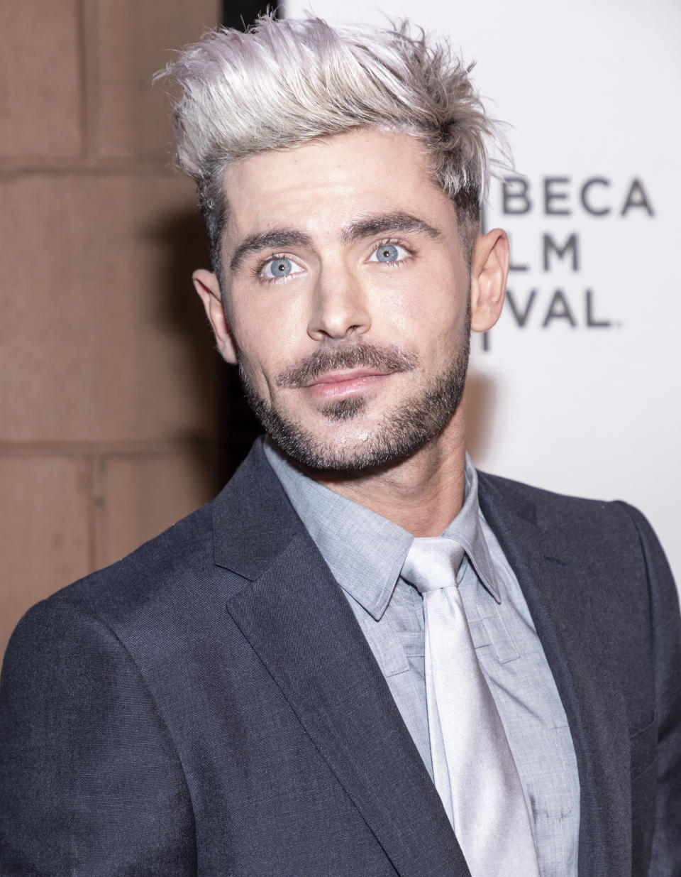 "Zac Efron attends ""Extremely Wicked, Shockingly Evil And Vile"" during 2019 Tribeca Film Festival at The Stella Artois Theatre, Manhattan."