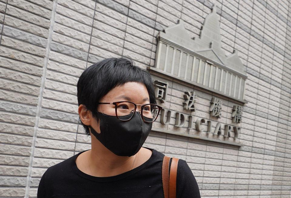 Bao Choy, charged with making false declarations, arrives at West Kowloon Court. 24MAR21 SCMP/ Winson Wong