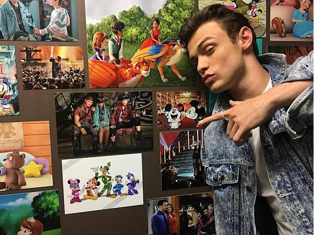 <p>Made it onto the Disney Wall… #descendants2 — @thomasadoherty<br><br>(Photo: Thomas Doherty via Instagram) </p>