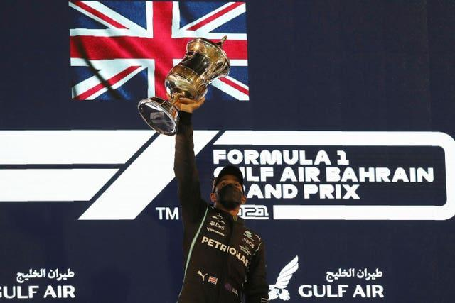 Lewis Hamilton secured the 96th win of his career in Bahrain