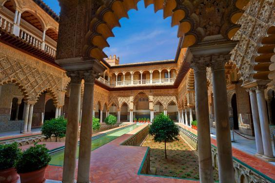 The Alcazar of Seville doubled as the Water Gardens on the show (Alamy)
