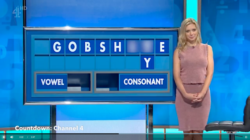 The awkward word was displayed on the screen. Photo: Countdown