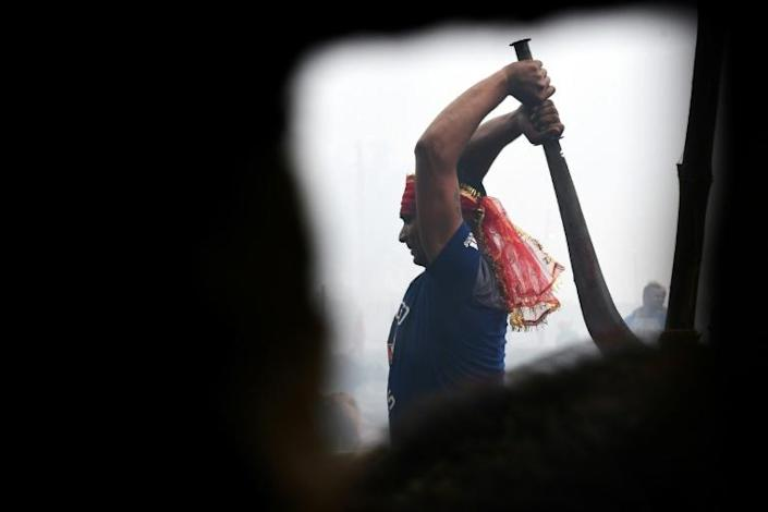 Thousands of creatures were set to be killed over the two day Gadhimai Festival in Nepal (AFP Photo/Prakash MATHEMA)
