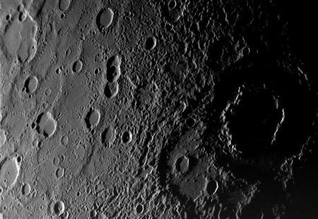 View of the planet Mercury from the Messenger Spacecraft
