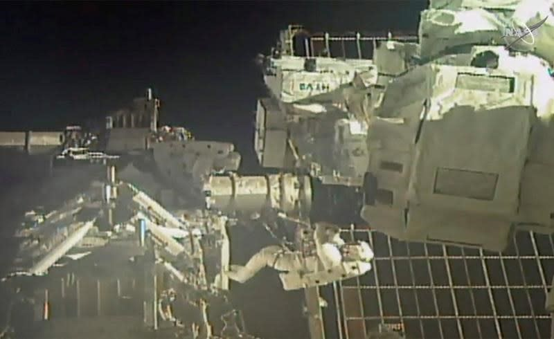 Astronauts complete 2nd spacewalk to swap station batteries