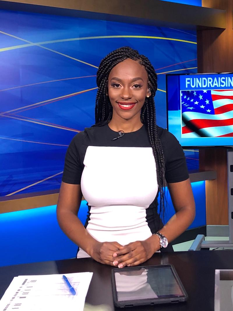 An African American woman broke industry standards by wearing braids on air (Photo courtesy of Lauren Kostiuk)