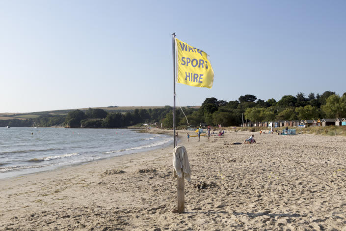Early morning quiet at Knoll beach, Studland Bay, Swanage, Dorset, England, UK. (Photo by: Geography Photos/Universal Images Group via Getty Images)