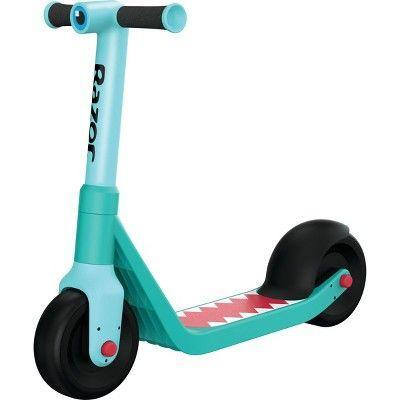 """<p><strong>Razor</strong></p><p>target.com</p><p><strong>$39.99</strong></p><p><a href=""""https://www.target.com/p/razor-wild-ones-kids-39-kick-scooter-blue/-/A-76469855"""" rel=""""nofollow noopener"""" target=""""_blank"""" data-ylk=""""slk:Shop Now"""" class=""""link rapid-noclick-resp"""">Shop Now</a></p><p>This brightly colored scoot will help your child learn to balance all while having a blast. The wide, low deck keeps them close to the ground, ensuring that if they were to fall they'd be A-OK. The scooter's wheels are made for indoor and outdoor use as well, so even a rainy day won't keep your child from zip-zooming around. </p>"""